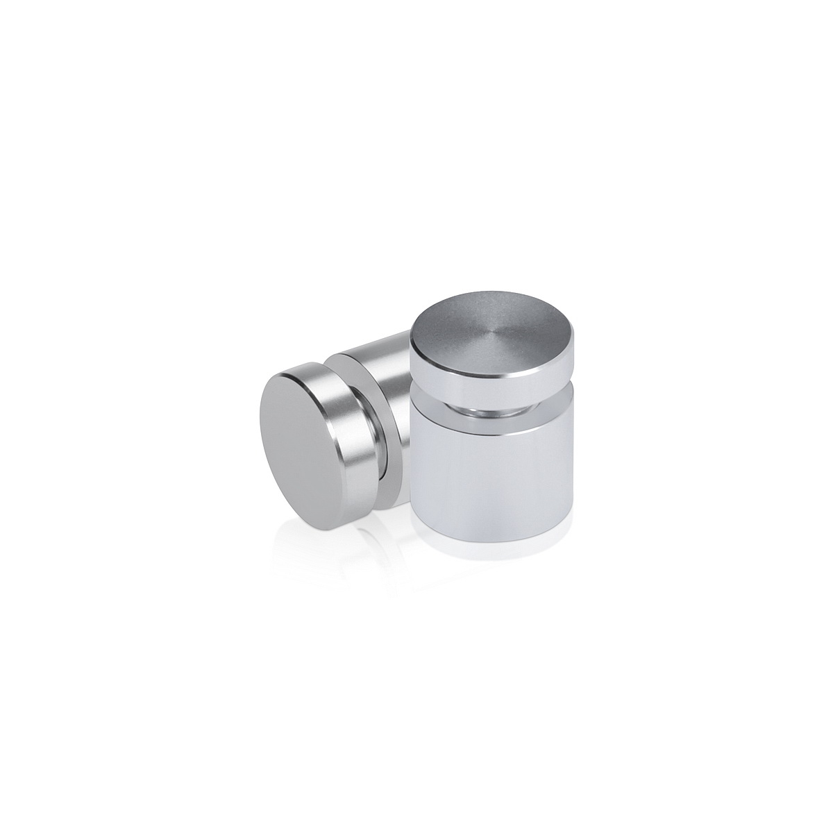 Affordable Aluminum Standoffs, Diameter: 5/8'', Standoff:  1/2'', Aluminum Silver Finish
