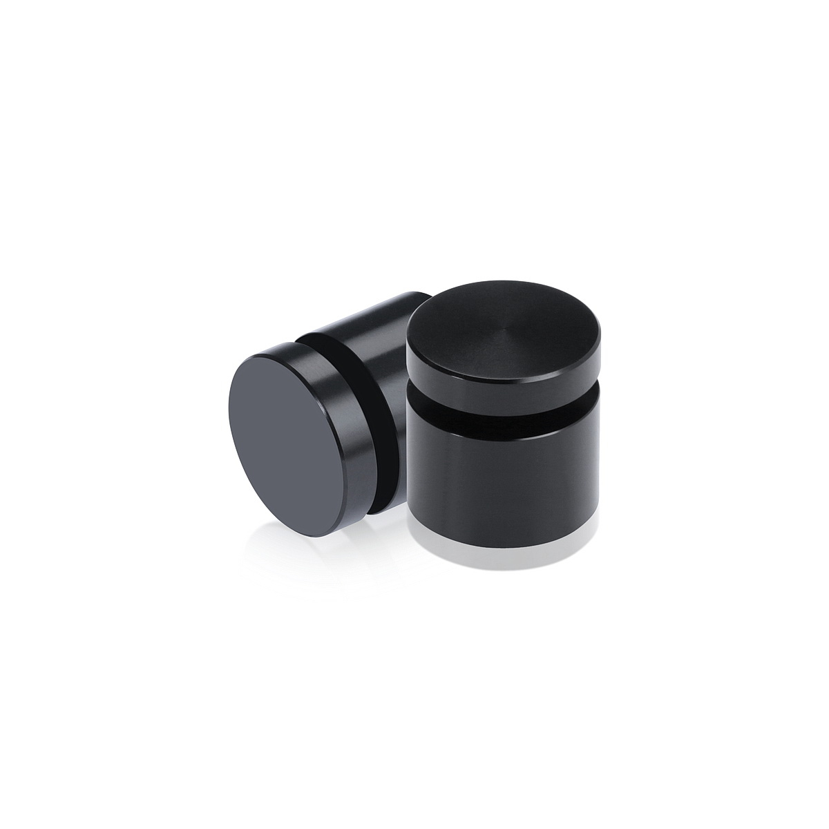 Affordable Aluminum Standoffs, Diameter: 3/4'', Standoff:  1/2'', Aluminum Black Finish