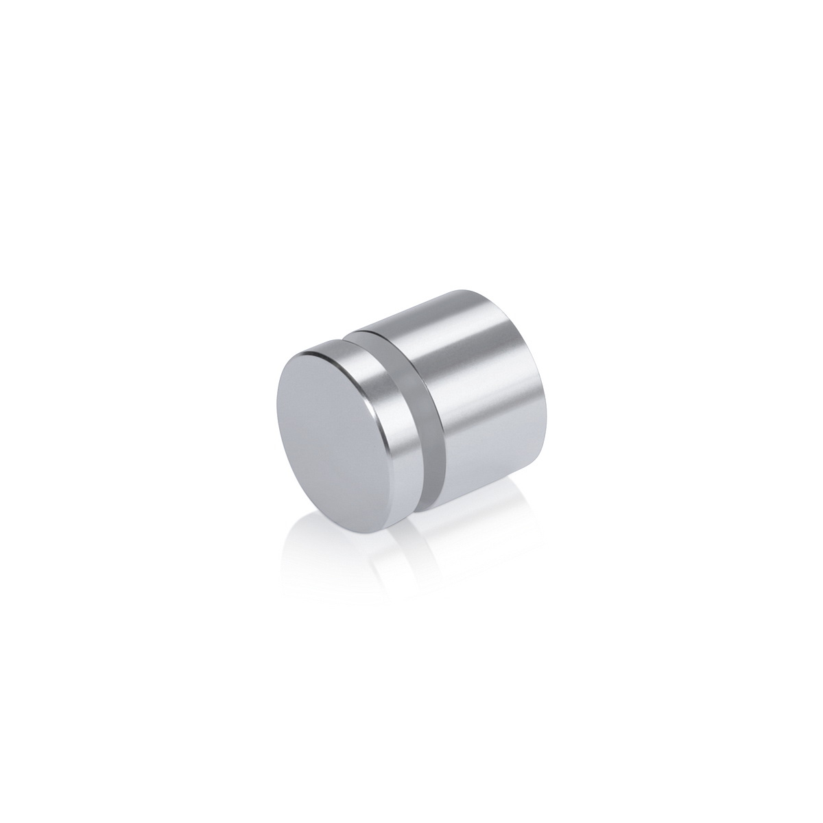 Affordable Aluminum Standoffs, Diameter: 3/4'', Standoff: 1/2'', Aluminum Silver Finish