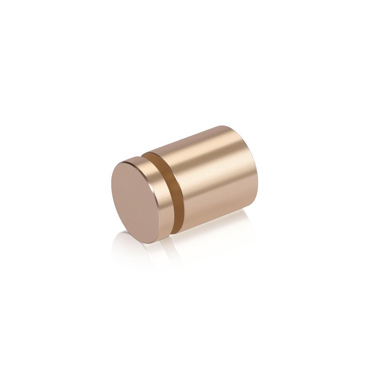 Affordable Aluminum Standoffs, Diameter: 3/4'', Standoff: 3/4'', Aluminum Champagne Finish