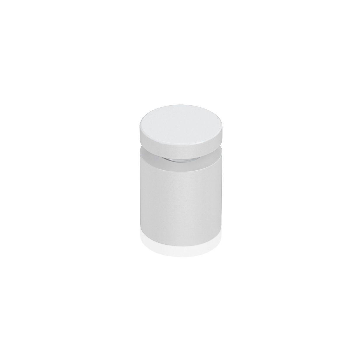 Affordable Aluminum Standoffs, Diameter: 3/4'', Standoff: 3/4'', Aluminum White Coated Finish