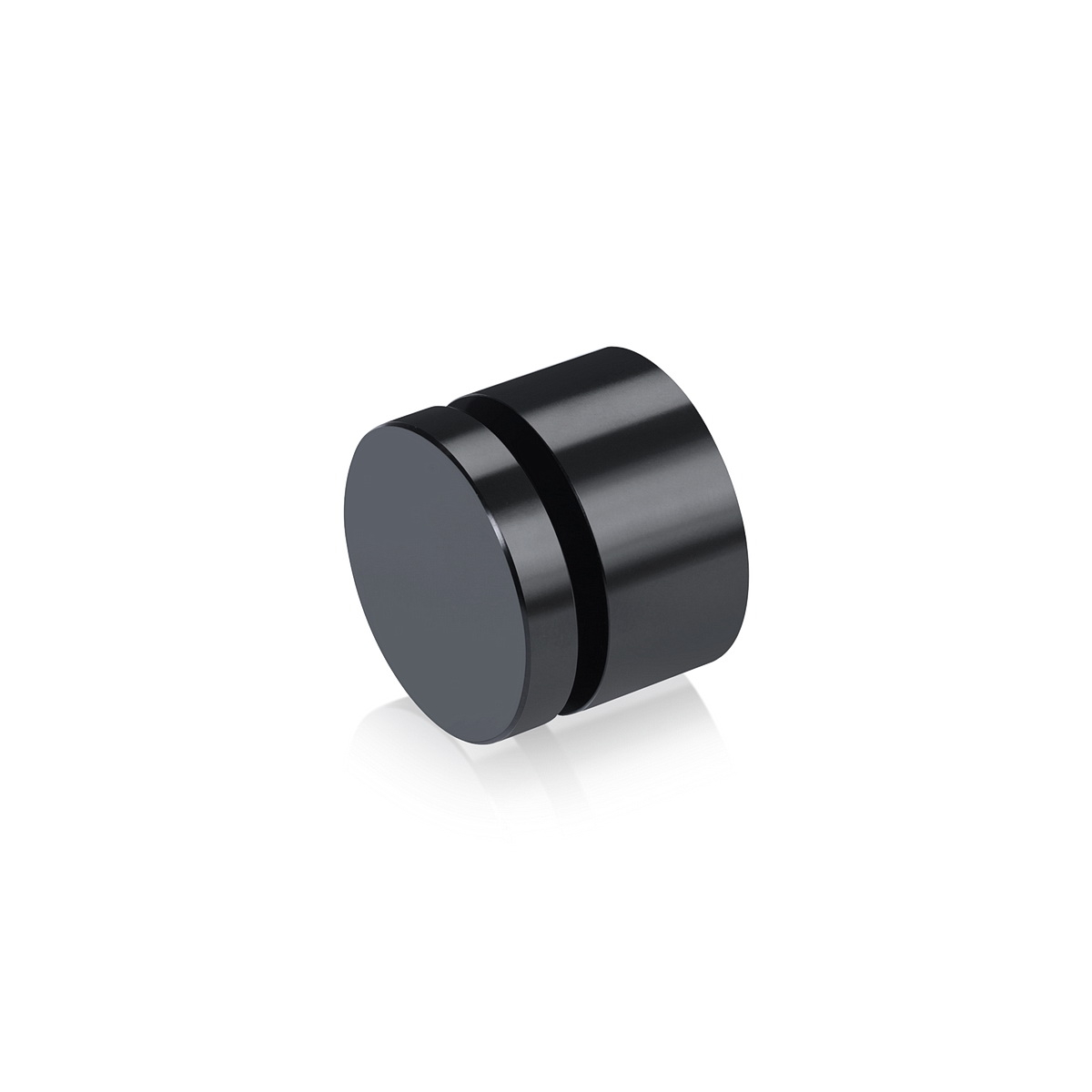 Affordable Aluminum Standoffs, Diameter: 1'', Standoff: 1/2'', Aluminum Black Finish