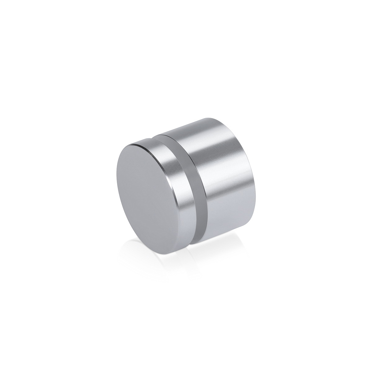 Affordable Aluminum Standoffs, Diameter: 1'', Standoff: 1/2'', Aluminum Silver Finish