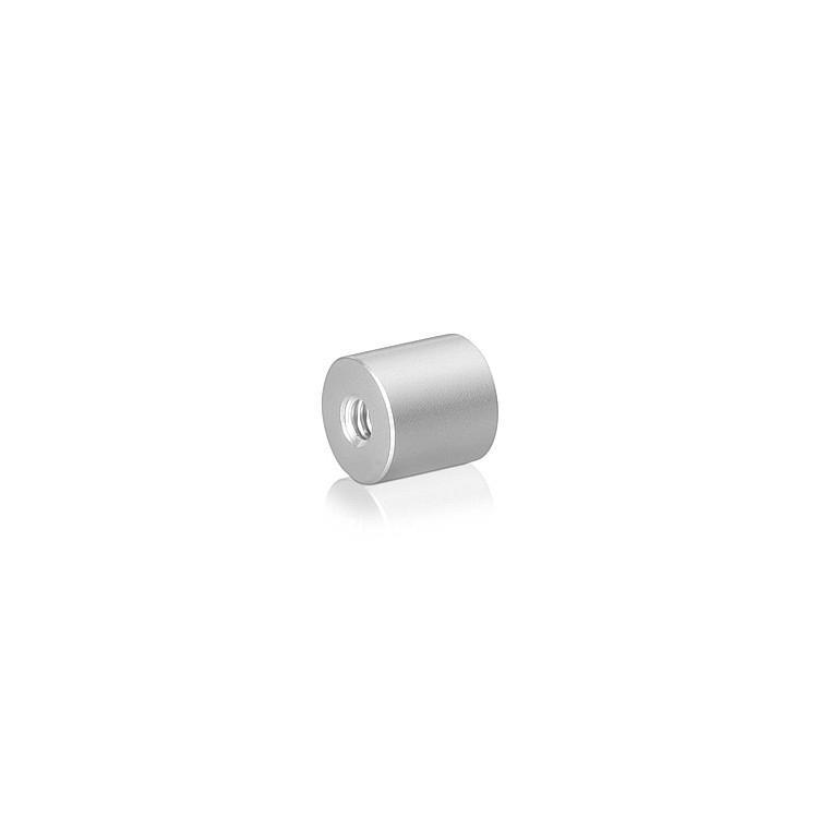 10-24 Threaded Barrels Diameter: 1/2'', Length: 1/4'', Clear Anodized Aluminum