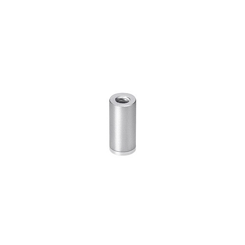 6-32 Threaded Barrels Diameter: 1/4'', Length: 1/2'', Clear Anodized Aluminum