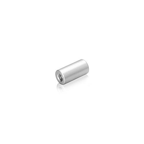6-32 Threaded Barrels Diameter: 1/4'', Length: 3/4'', Clear Anodized Aluminum
