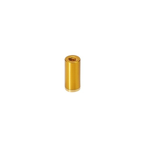 6-32 Threaded Barrels Diameter: 1/4'', Length: 1'', Gold Anodized Aluminum