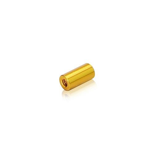 6-32 Threaded Barrels Diameter: 1/4'', Length: 1/2'', Gold Anodized Aluminum