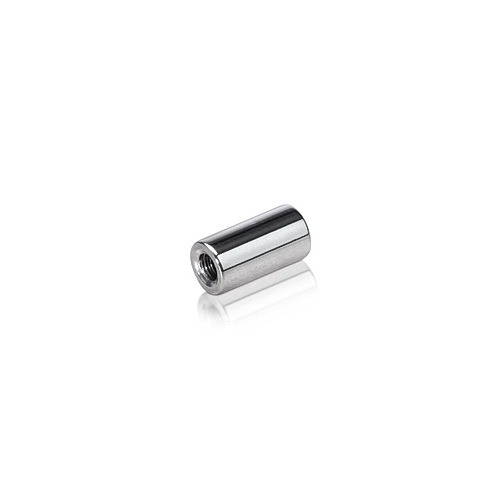 6-32 Threaded Barrels Diameter: 1/4'', Length: 1/2'', Polished Stainless Steel