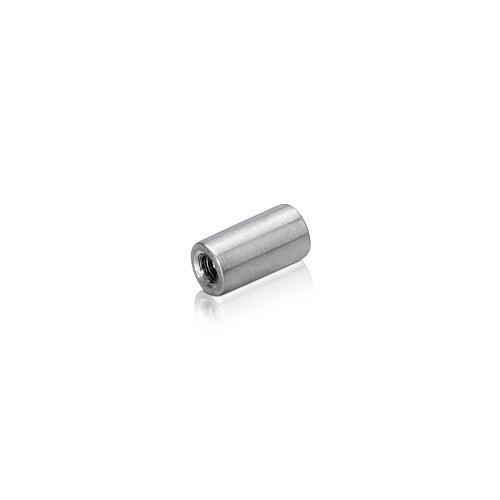 6-32 Threaded Barrels Diameter: 1/4'', Length: 1/2'', Satin Brushed Stainless Steel