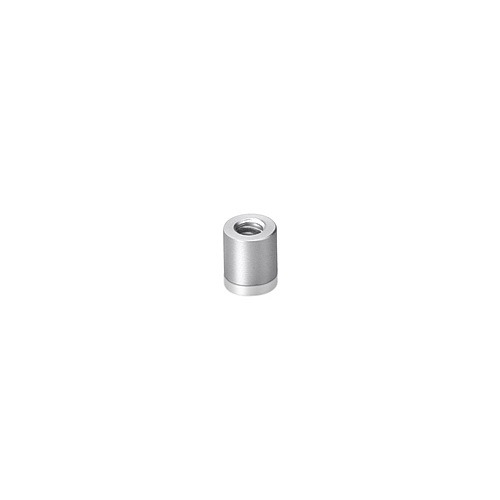 6-32 Threaded Barrels Diameter: 1/4'', Length: 1/4'', Clear Anodized Aluminum