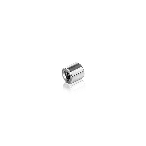 6-32 Threaded Barrels Diameter: 1/4'', Length: 1/4'', Polished Stainless Steel