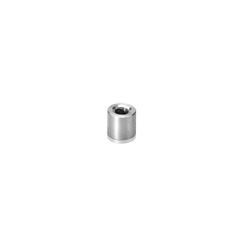 6-32 Threaded Barrels Diameter: 1/4'', Length: 1/4'', Satin Brushed Stainless Steel