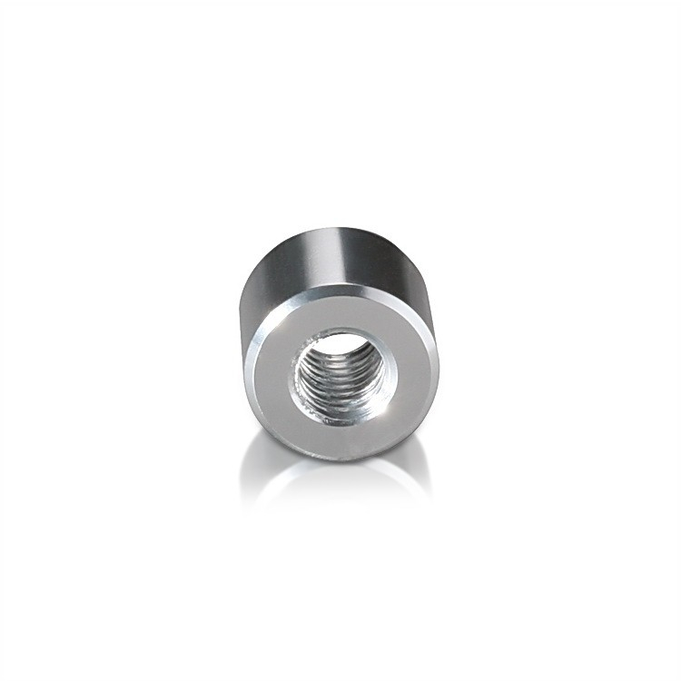 5/16-18 Threaded Barrels Diameter: 5/8'', Length: 1/4'', Clear Anodized