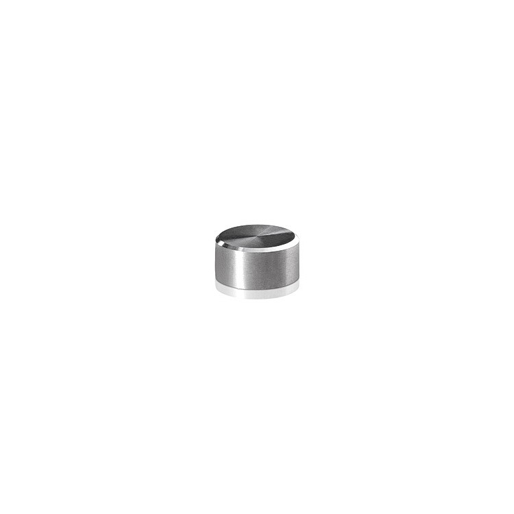 10-24 Threaded Caps Diameter: 1/2'', Height: 1/4'', Brushed Satin Stainless Steel