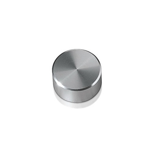 5/16-18 Threaded Caps Diameter: 5/8'', Height: 5/16'', Clear Anodized Aluminum