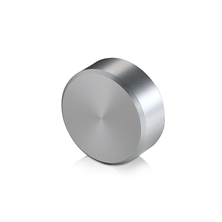 5/16-18 Threaded Caps Diameter: 1'', Height: 3/8'', Clear Anodized Aluminum