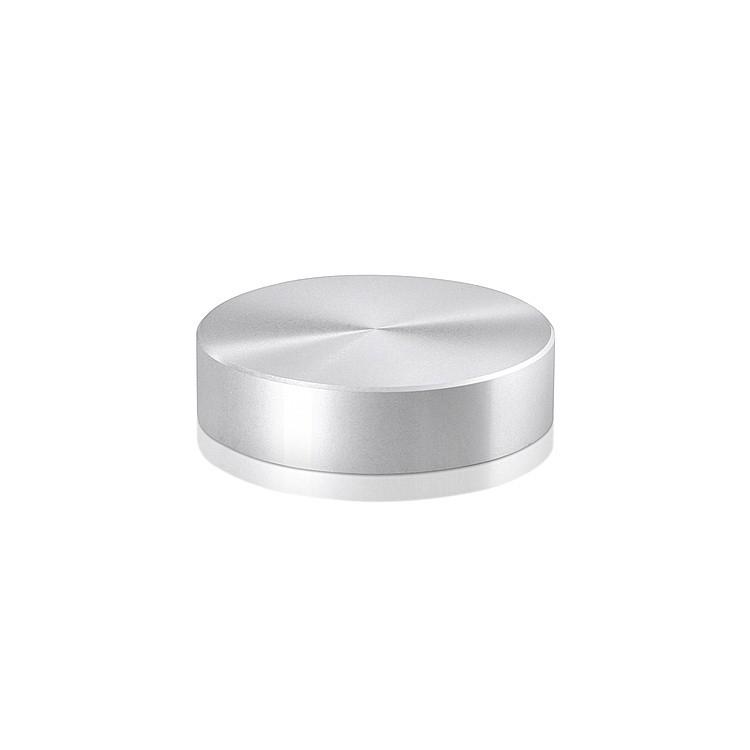 Caps Diameter: 2'', Height: 1/2'', Clear Anodized Aluminum