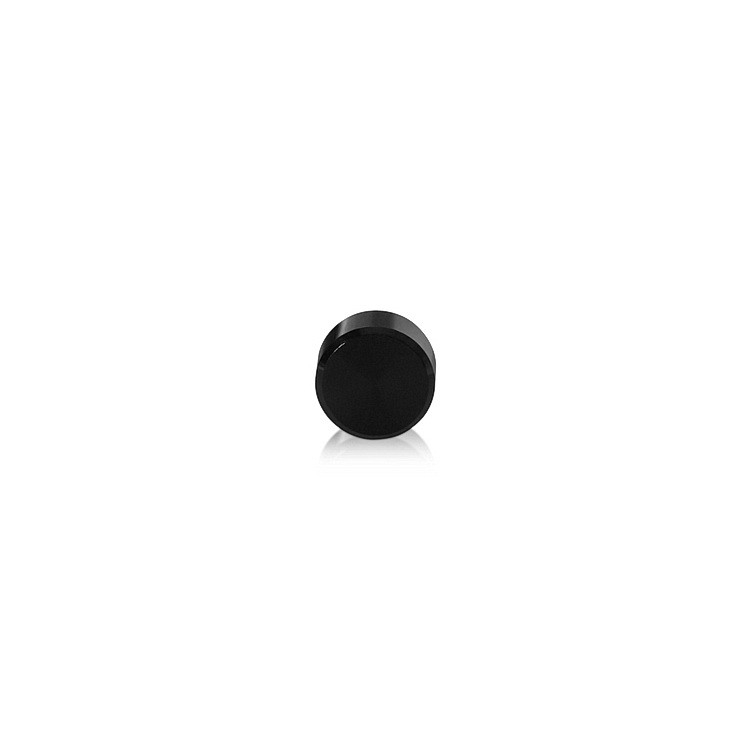 10-24 Threaded Caps Diameter: 1/2'', Height: 1/4'', Black Anodized Aluminum