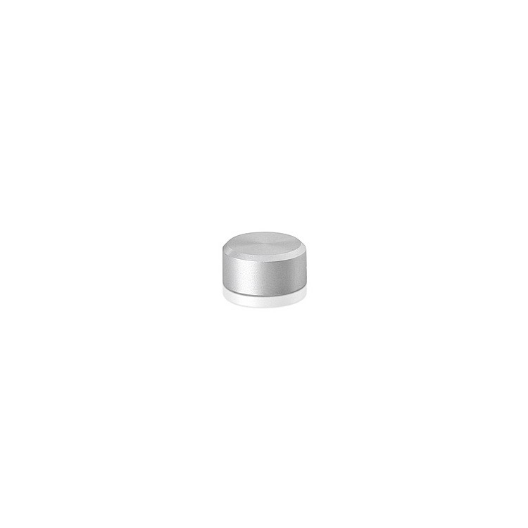 10-24 Threaded Caps Diameter: 1/2'', Height: 1/4'', Clear Anodized Aluminum