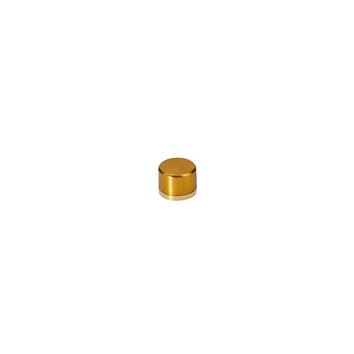 6-32 Threaded Caps Diameter: 1/4'', Height: 5/32'', Gold Anodized Aluminum