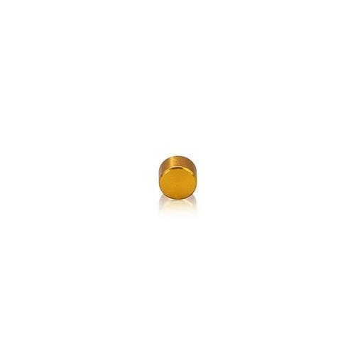 Caps Diameter: 1/4'', Height: 5/32'', Gold Anodized Aluminum