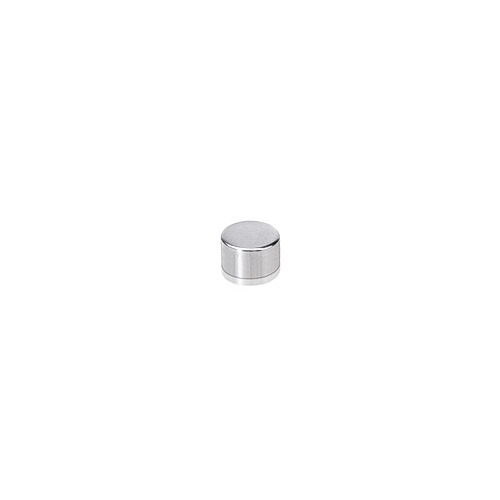 6-32 Threaded Caps Diameter: 1/4'', Height: 5/32'', Polished Stainless Steel