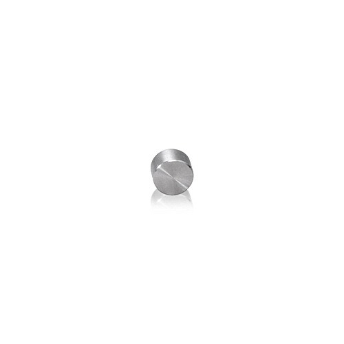 6-32 Threaded Caps Diameter: 1/4'', Height: 5/32'', Satin Stainless Steel