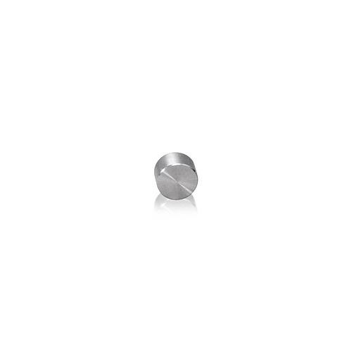 Caps Diameter: 1/4'', Height: 5/32'', Satin Stainless Steel