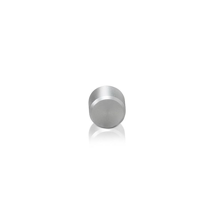 Caps Diameter: 3/8'', Height: 1/4'', Clear Anodized Aluminum M5 Threaded