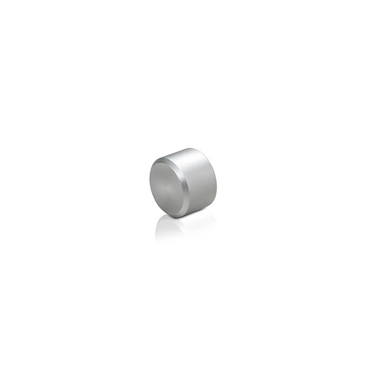 M5 Threaded Caps Diameter: 3/8'', Height: 1/4'', Clear Anodized Aluminum M5 Threaded