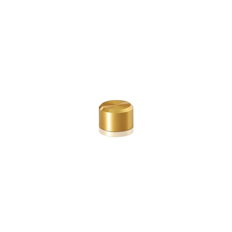 10-24 Threaded Caps Diameter: 3/8'', Height: 1/4'', Gold Anodized Aluminum