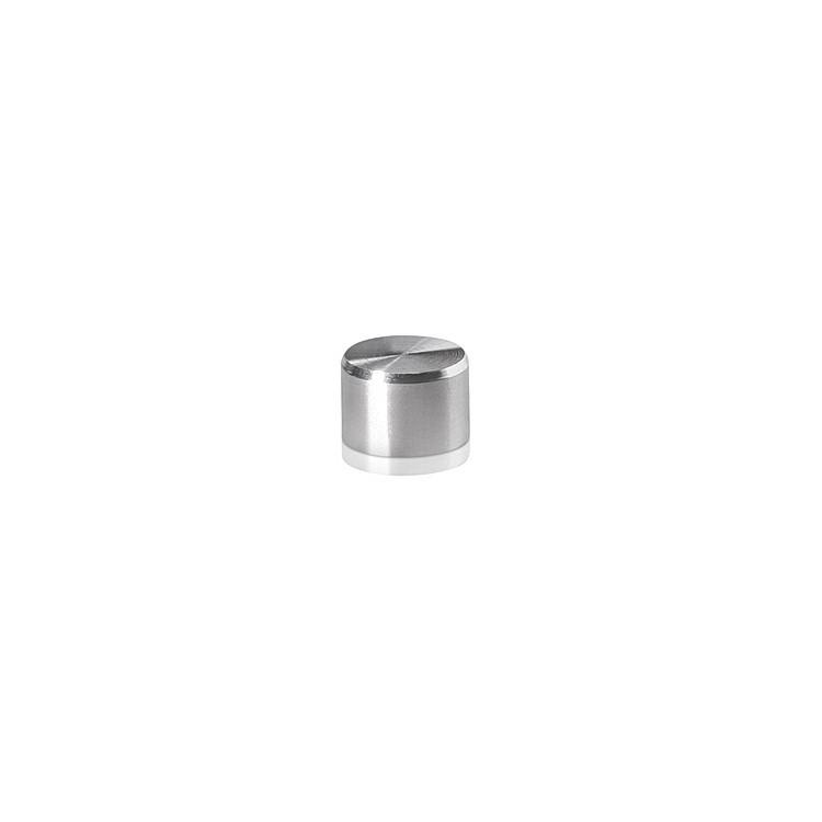 Caps Diameter: 3/8'', Height: 1/4'', Satin Stainless Steel