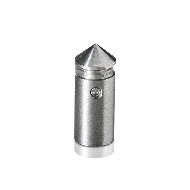 1/2'' Diameter X 1'' Barrel Length Stainless Steel Standoffs Conical Head Satin Brushed Finish (for Indoor)