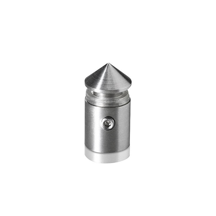1/2'' Diameter X 1/2'' Barrel Length Stainless Steel Standoffs Conical Head  Satin Brushed Finish (for Indoor)