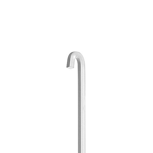 Square Rod 24'' with the end bended ''P'',  Aluminum Clear Anodized Finish
