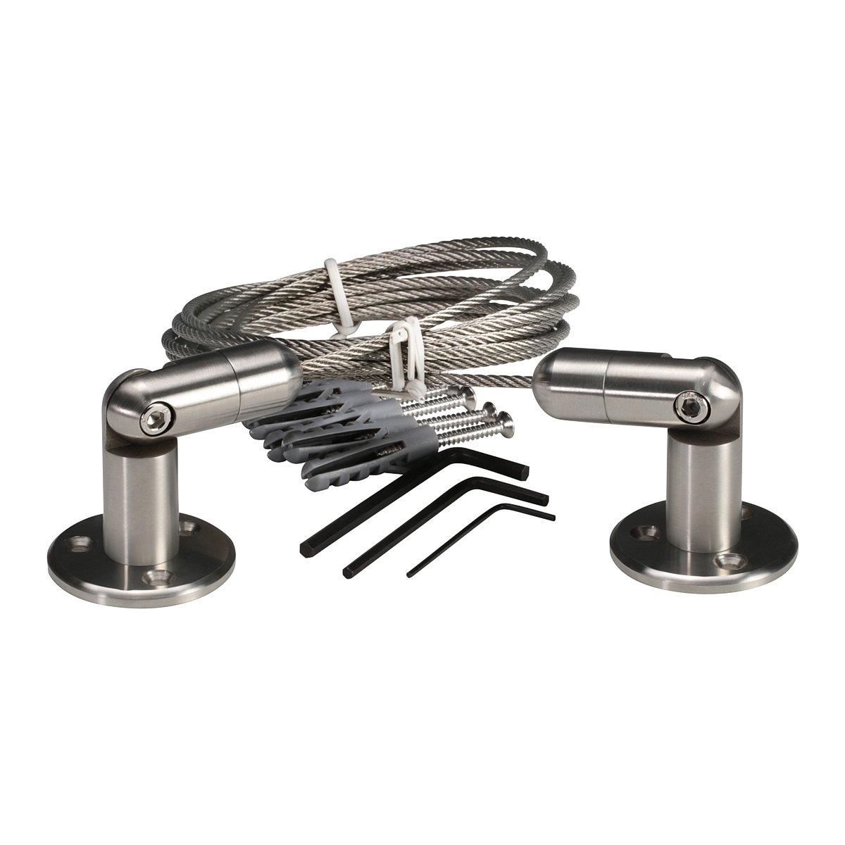 Stainless Steel Cable System Kit  Multi Angle, Cable Diameter: 1/8'' (3 mm) Length 13' 1'' (4.00m)