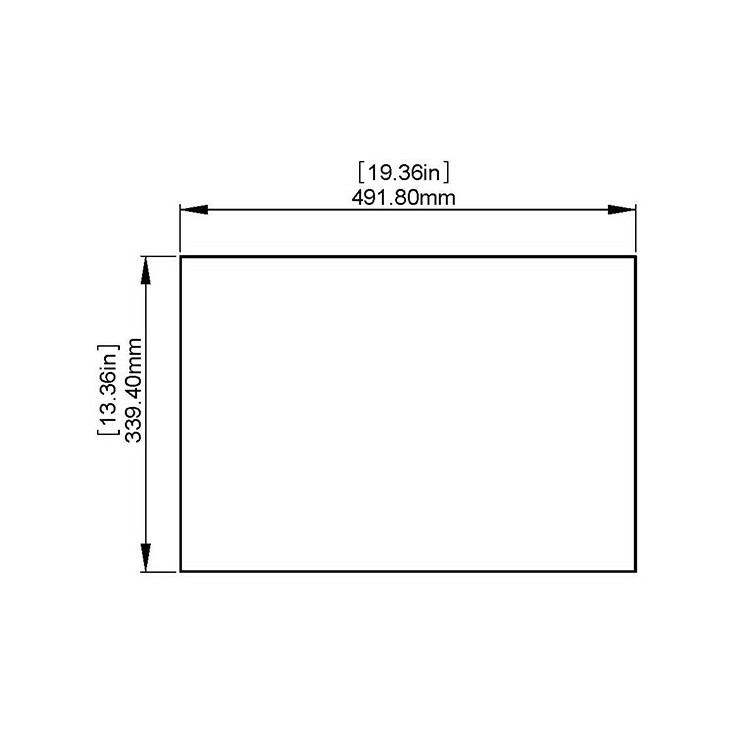 Flat Tempered Glass 19.36'' x 13.36'' x 3/16'''' thickness, NO pre-drilled holes