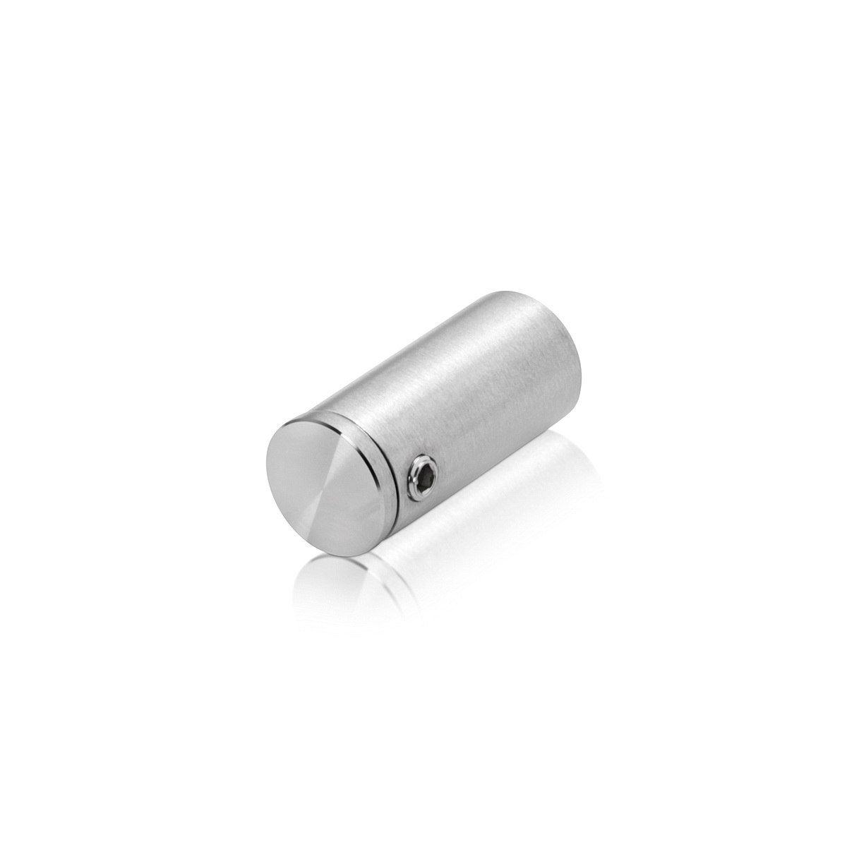 1/2'' Diameter x 1'' Barrel Length, Stainless Steel Glass Standoff Satin Brushed Finish  (Indoor or Outdoor Use)