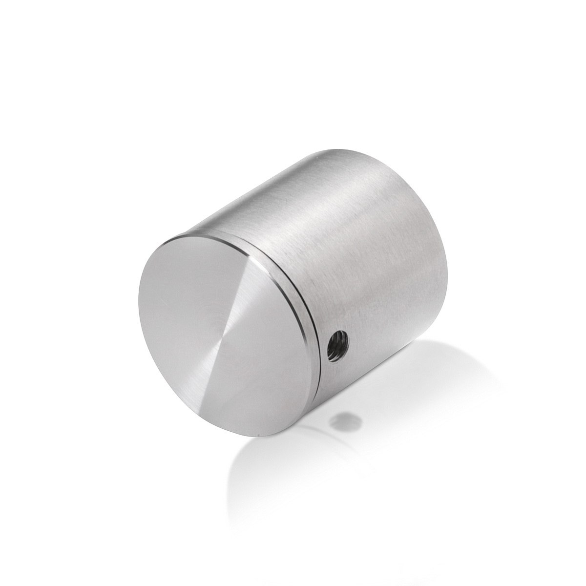 Stainless Steel Glass Standoff, Diameter: 1'', Standoff: 1'', Satin Brushed Finish (Indoor Use Only)