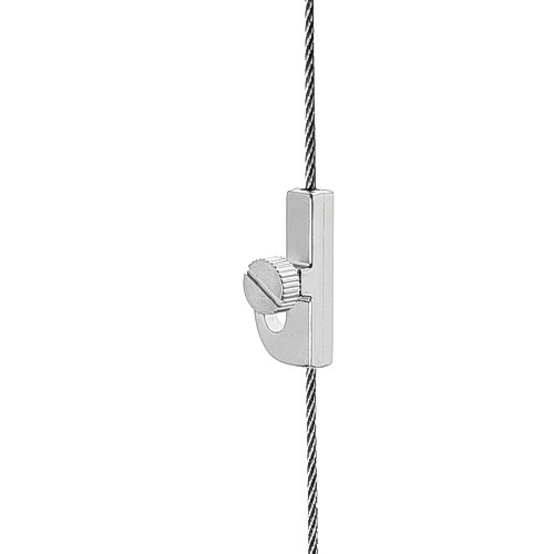 Crane Hook with Side Screw ''Nickel Plating'' Finish  (For Cable Diameter 0.06'' to 0.08'')