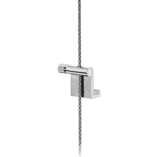 L-Hook with Side Screw ''Nickel Plating'' Finish  (For Cable Diameter 0.06'' to 0.08'')