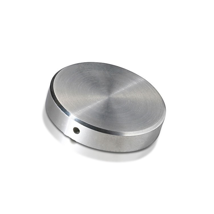 Locking Caps Diameter: 1 1/2'', Height: 5/16'', Brushed Satin Stainless Steel