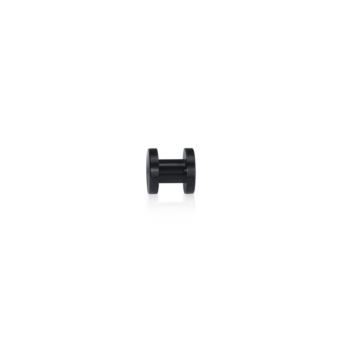 Flat Head Material Connector Aluminum Black Anodized Finish