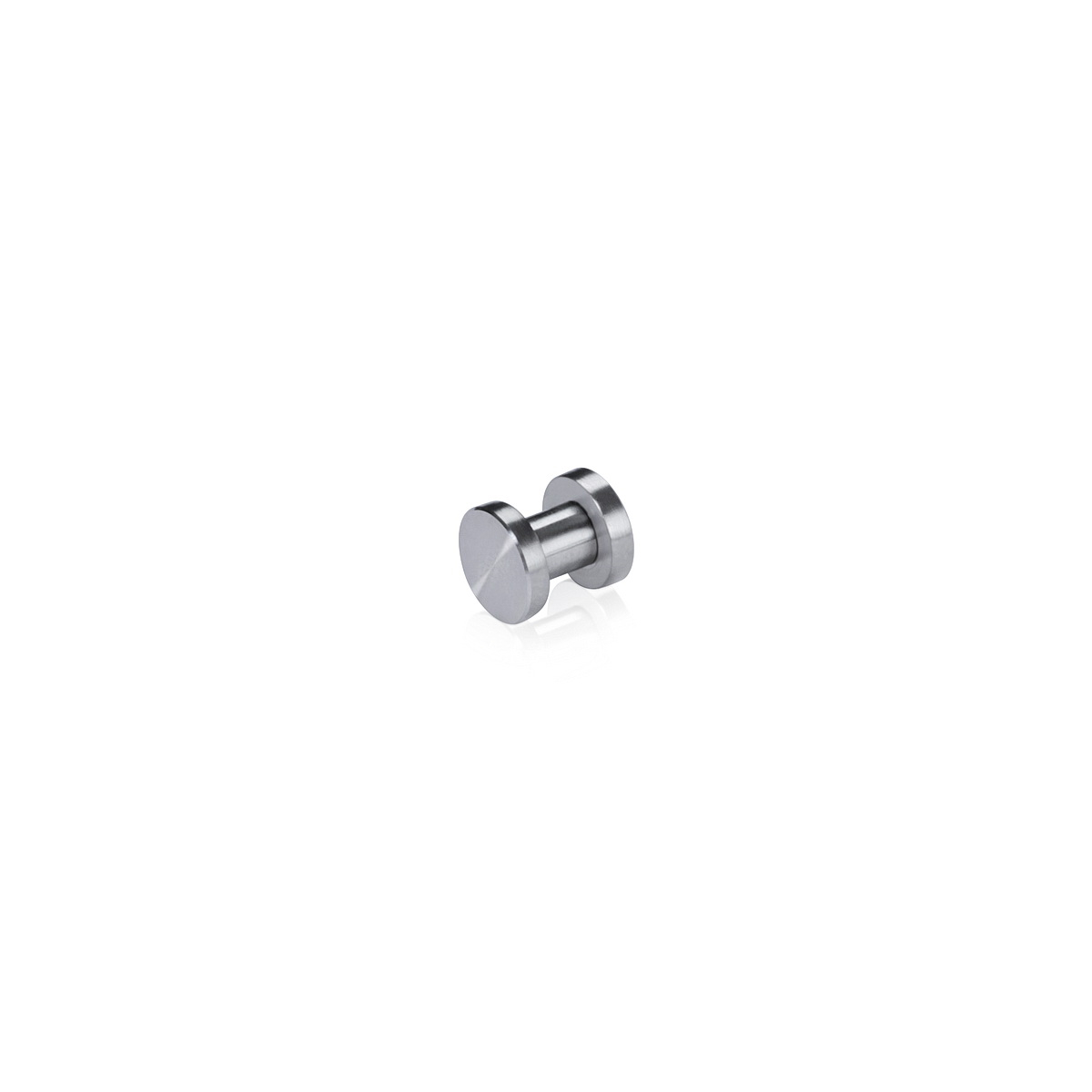 Flat Head Material Connector Stainless Steel Satin Brushed Finish