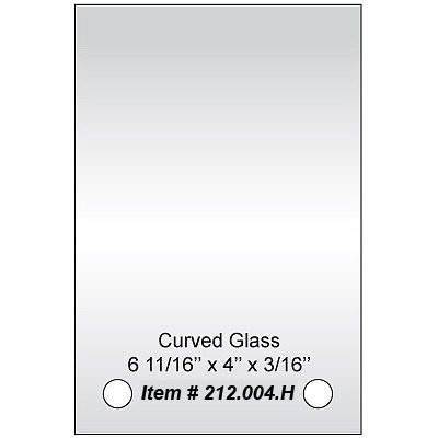 Curved Floating glass
