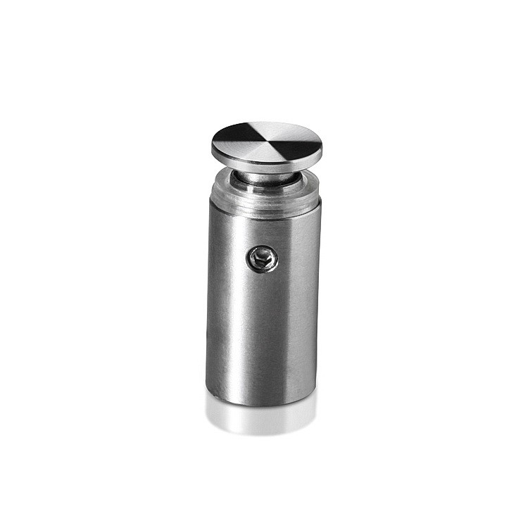1/2'' Diameter X 1'' Barrel Length Stainless Steel Sandoffs Standard Head Satin Brushed Finish (for Inside & Outside Use)