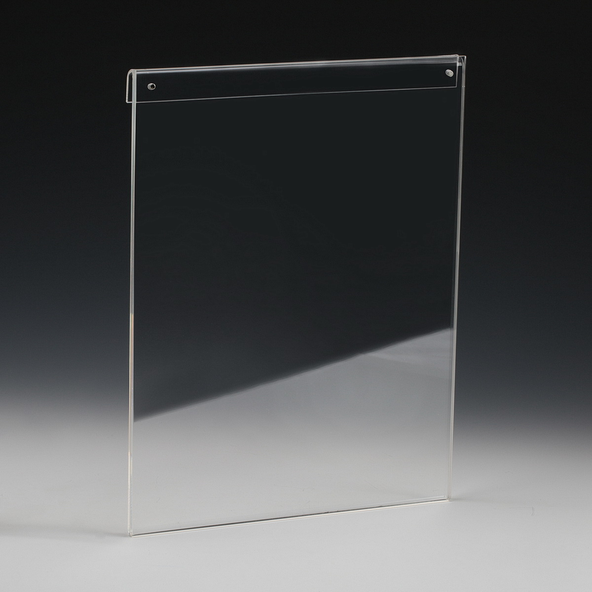Clear Acrylic Frame for Media 8.5'' x 11'' (For vertical 1/4'' Rod Systems)