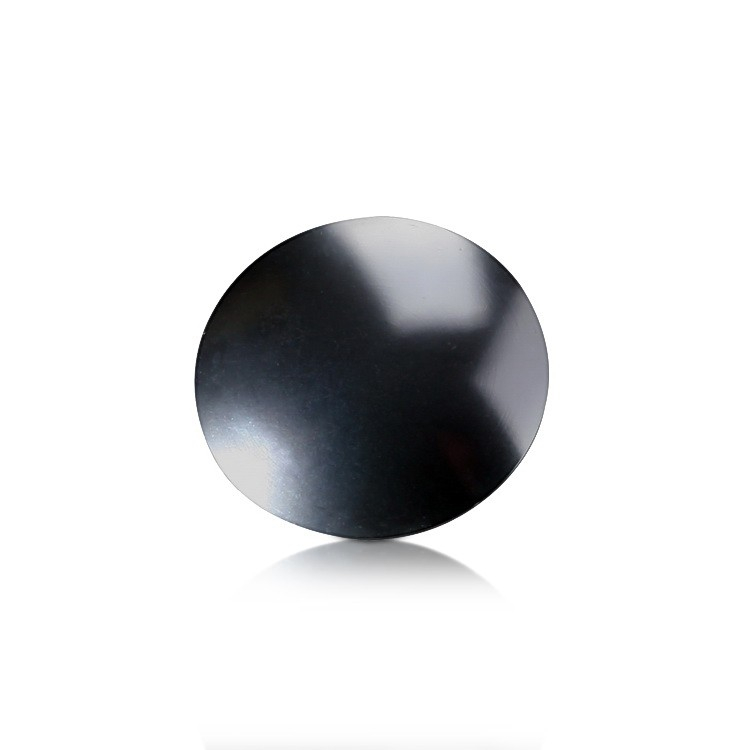 Rounded Caps Diameter: 1'', Height: 1/8'', Clear Anodized Aluminum