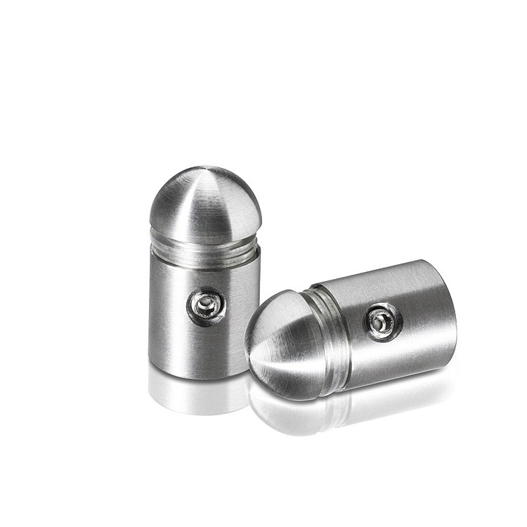 1/2'' Diameter X 1/2'' Barrel Length Stainless Steel Standoffs Rounded Head  Satin Brushed Finish (for Indoor)